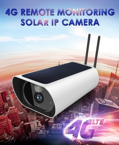 Wireless 4G Outdoor Solar Power Camera 2MP Ip Cameras P2p Mobile View Ir Vision Network Cameras Rechargeable Power 4G Cameras