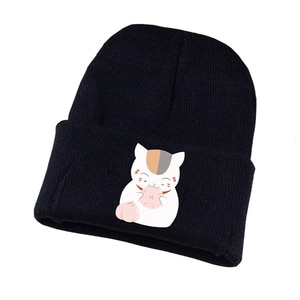 Anime Gnime Natsume Yuujinchou Knitted Hat Cosplay Hat Unisex Print Adult Casual Cotton Hat Teenagers Winter Knitted Cap