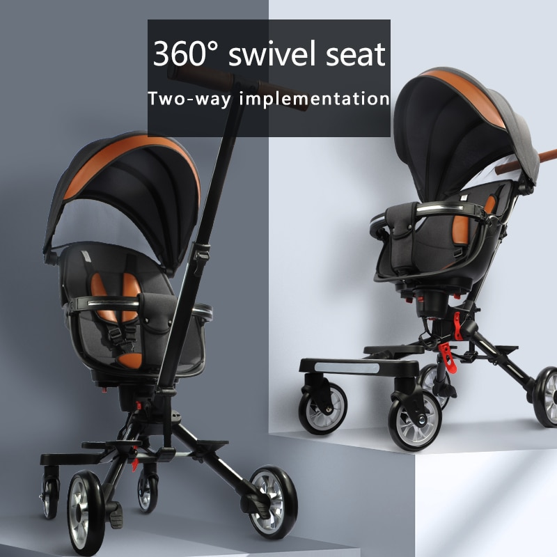 Baby Portable Travel Trolley Walker Light Folding Child's Basket Car Seat Two-Way Pushchair Outdoor High View stroller enlarge