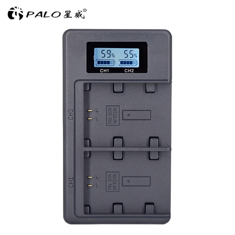 PALO NP-FZ100 NPFZ100 FZ100 LCD Digital Battery Charger for Sony Alpha a9, Alpha a7R III, A7R MARK 3