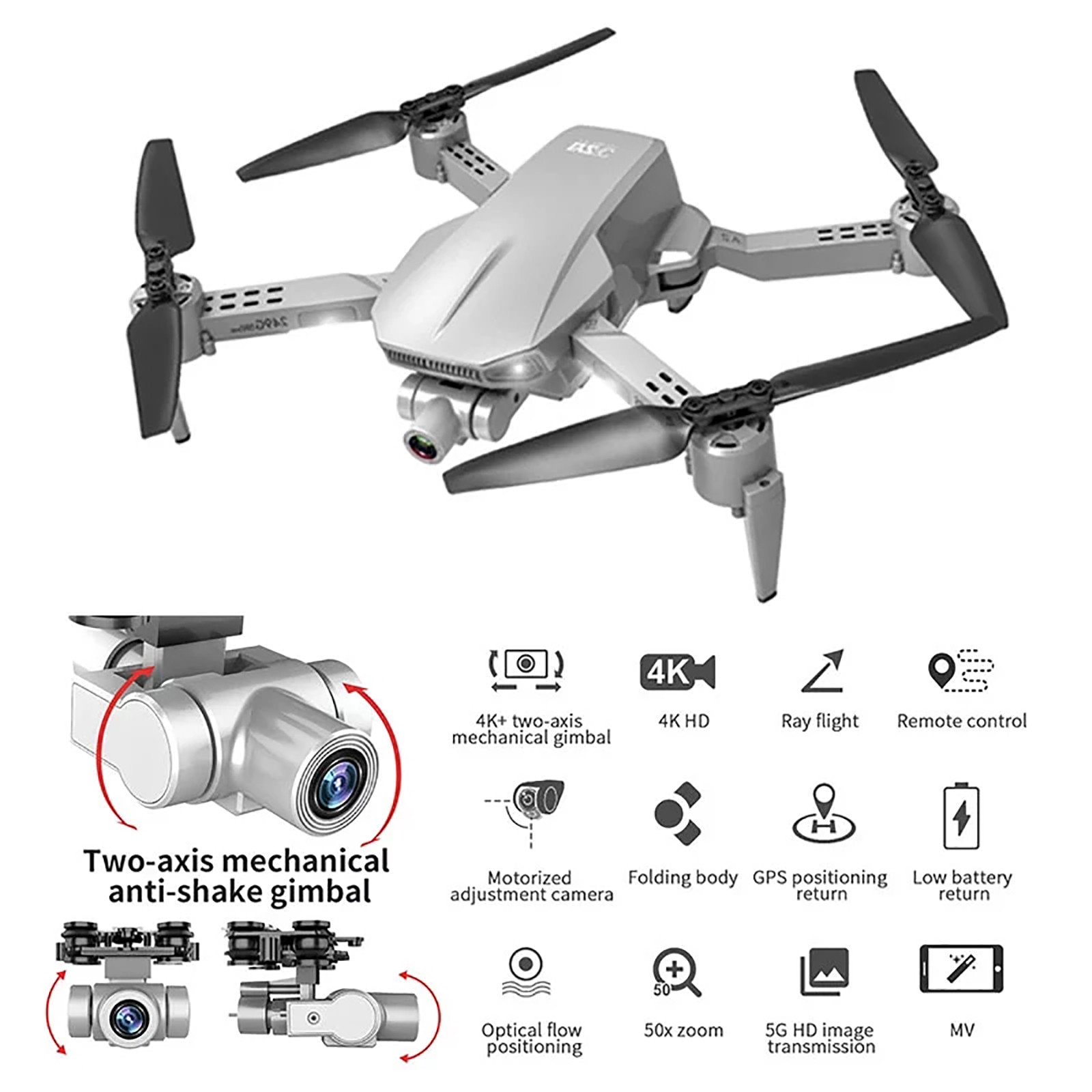 L106 Pro Gps Drone 4k RC Quadcopter With Camera Optical Flow Fpv Drone 4k Professional Drones With Gps And Camera Follow Dron #F