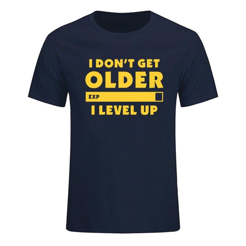 Camiseta de algodón de manga corta con cuello redondo para hombre y...