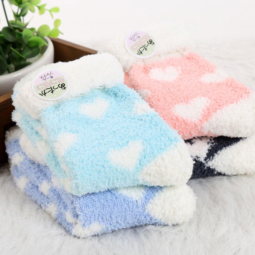 Теплые женские милые зимние кавайные толстые повседневные женские махровые милые теплые женские носки пушистые носки хлопковые короткие н...
