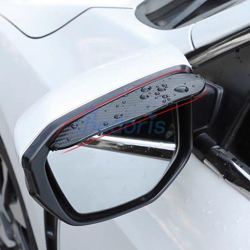 Для Toyota Land Cruiser 200 FJ 100 FJ100 карбоновое волокно заднего вида, защита от дождя и бровей, авто зеркало, защита от дождя, аксессуары