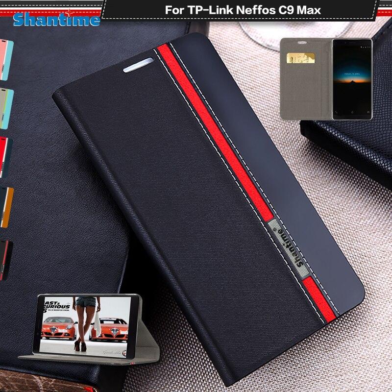 Étui en cuir de luxe pour tp-link Neffos C9 Max étui à rabat pour tp-link Neffos C9 Max coque de téléphone étui arrière souple en Silicone or polyuréthane thermoplastique