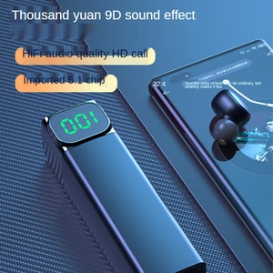 Cross-border new BQC-01 wireless bluetooth headset TWS5.1 sports digital display LED private mode drawing intelligent stereo