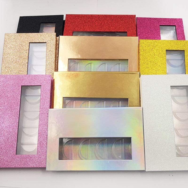 10 Uds al por mayor 25mm pestañas postizas caja de embalaje falsas 3d mink pestañas cajas faux cils tira rectángulo Funda magnética vacío