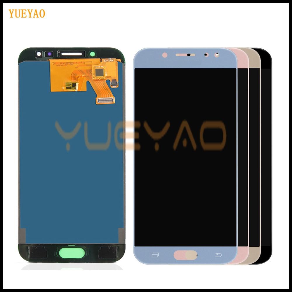 Pantalla LCD para Samsung GALAXY J5 2017 pantalla J530F pantalla LCD J530 LCD Touch digitalizador montaje de cristal No Marco se puede ajustar