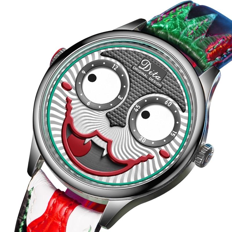 التصميم الإبداعي ساعات رجالية الطلب الكبير جوكر كوارتز ساعة معصم مقاوم للماء ساعة رياضية ساعات مضحكة للرجال أفضل ساعة بوبينغ