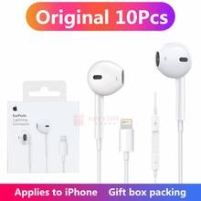 10 PCS Gift BOX Apple Earpods Original Earphones for iPhone 12 11 Pro 7 8 Plus X XS MAX XR Lightning