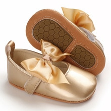 2020 Brand New Newborn Baby Girl Shoes Princess Girls Shoes Leather Bow Buckle Strap Flat Heel Soft