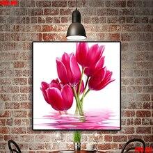 Mignon animal de compagnie 5D broderie aquatique tulipe bricolage ensembles complets diamant peinture point de croix rond carré diamant mosaïque strass