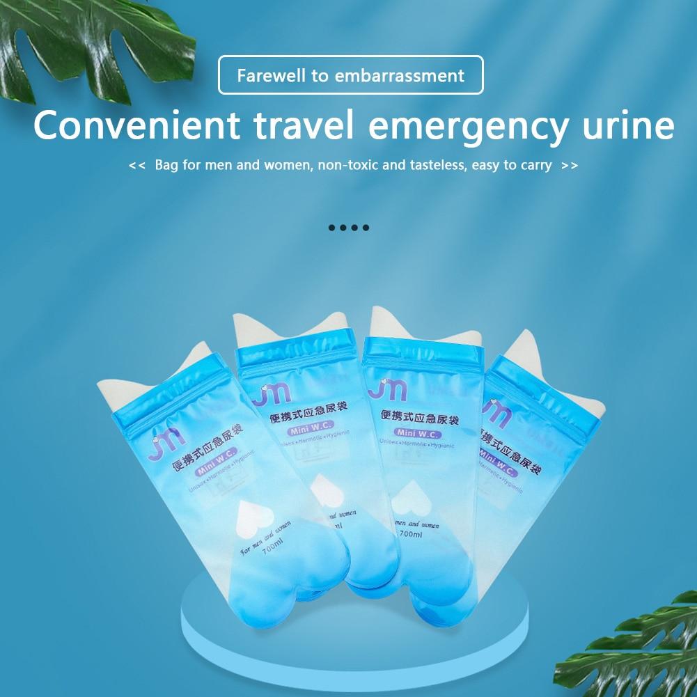 4pcs Piss Bags Travel Mini Mobile Toilet Disposable Urinal Portable Pee Bags Convenient Men Women Us