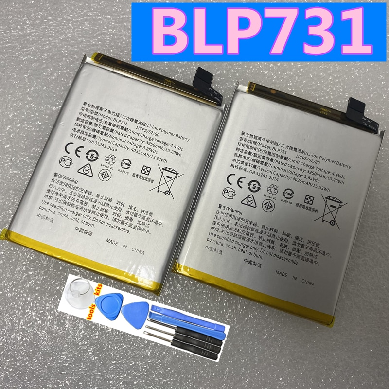 New Original BLP731 3950mAh Mobile Phone Battery For Oppo Realme Q / X Youth Batteries