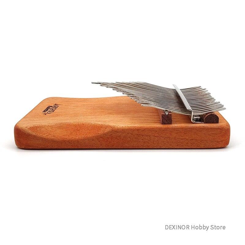 Gecko Kalimba 21key Thumb Piano Mahogany Wood slender keys Mbira Gift Keyboard Music Instruments caliber wooden box calimba enlarge