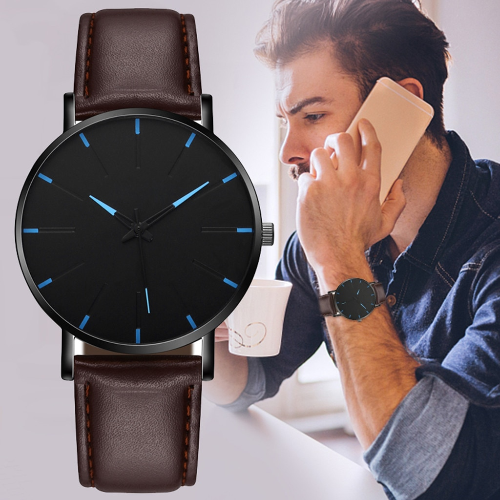 Casual Sport Watches for Men Top Brand Luxury Military Leather Wrist Watch Man Clock Fashion Chronog