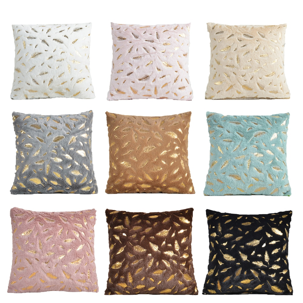 Decorative Pillows 45x45cm Soft Cushion Cover Feather Home Plush Pillow Case Throw Pillow Cover Seat Sofa Decoration Pillowcase