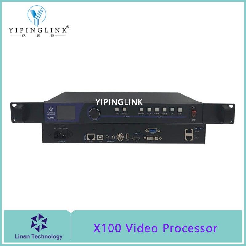 LINSN X100-قشارة معالج فيديو الكل في واحد ، مع تشغيل USB وبطاقة إرسال متكاملة