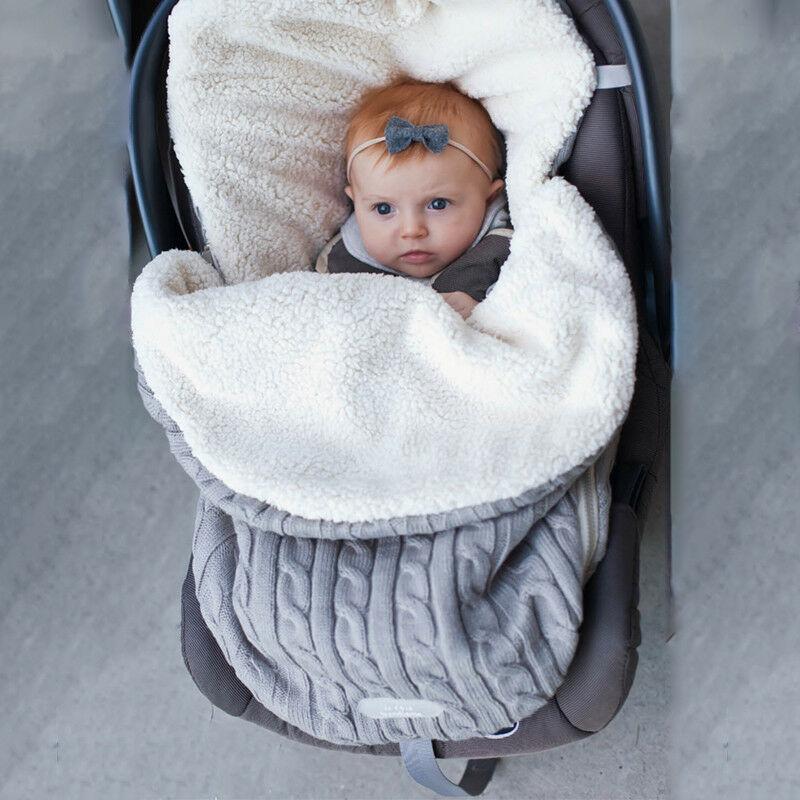 Manta para envolver a bebé recién nacido con capucha, manta para envolver, saco de dormir cálido para cochecito