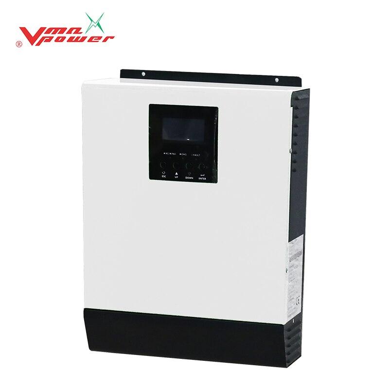 Vmaxpower 1kva عالية عاكس ترددات الضوء PWM التحكم 12VDC لوحة طاقة شمسية محول الهجين مع شاحن نقية شرط لموجة العاكس