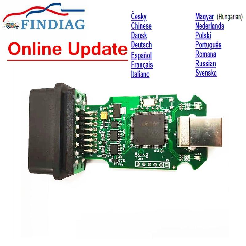 Online Update V2 STM32F405VGT6 15 Language Unlimited Diagnostic Kline Support New Models For Volkswagen For Audi OBDII Interface