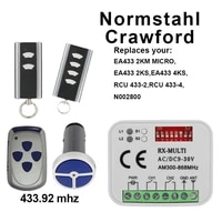 crawford remote ea433 2ksea433 4ks replacement garage door remote control receiver opener crawford remote control electric gate