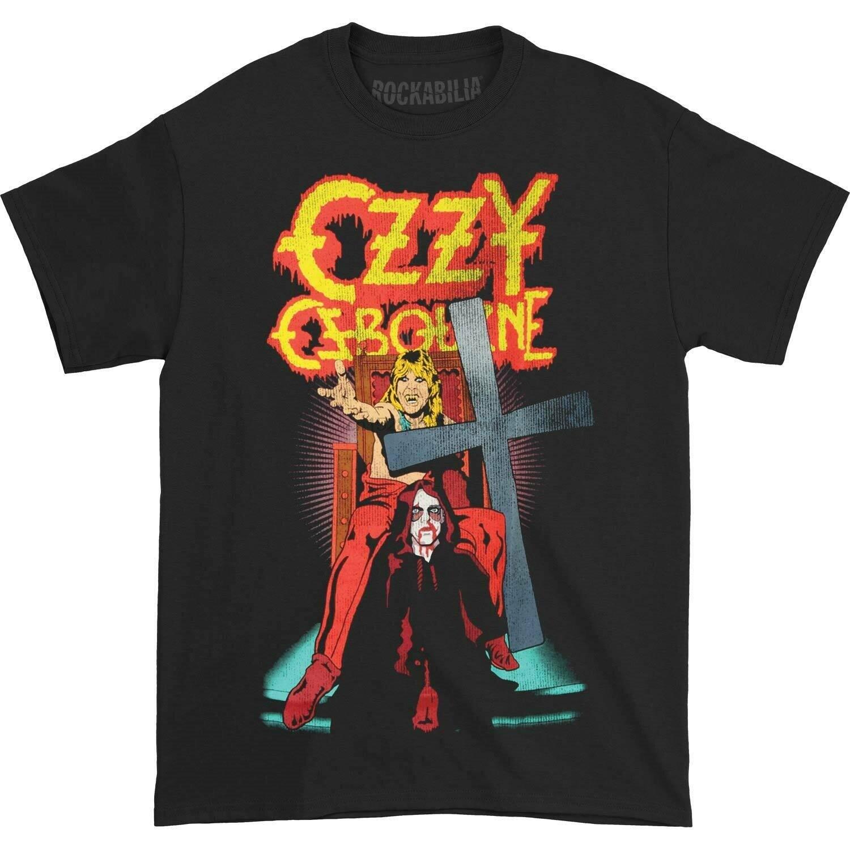 Ozzy Osbourne hombres habla de la camiseta de diablo negro