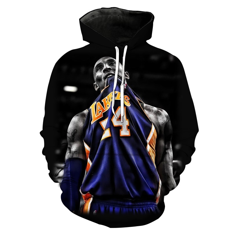 2021 new 3D printed loose and comfortable hooded pullover basketball star 3D personalized casual fashion hooded sweatshirt  - buy with discount