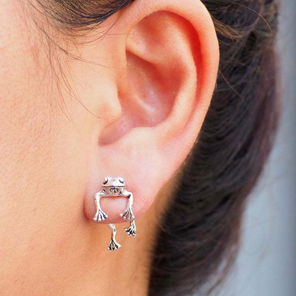 Korean Fashion  Frog Earrings For Women Jewelry 2021 Men Personality Wholesale