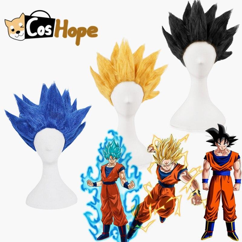 Peluca de Son Goku, Super Saiyan Goku de Anime, peluca de Dragon Ball, Cosplay para adulto, peluca Vegeta, pelucas sintéticas, Anime, Cosplay de Halloween
