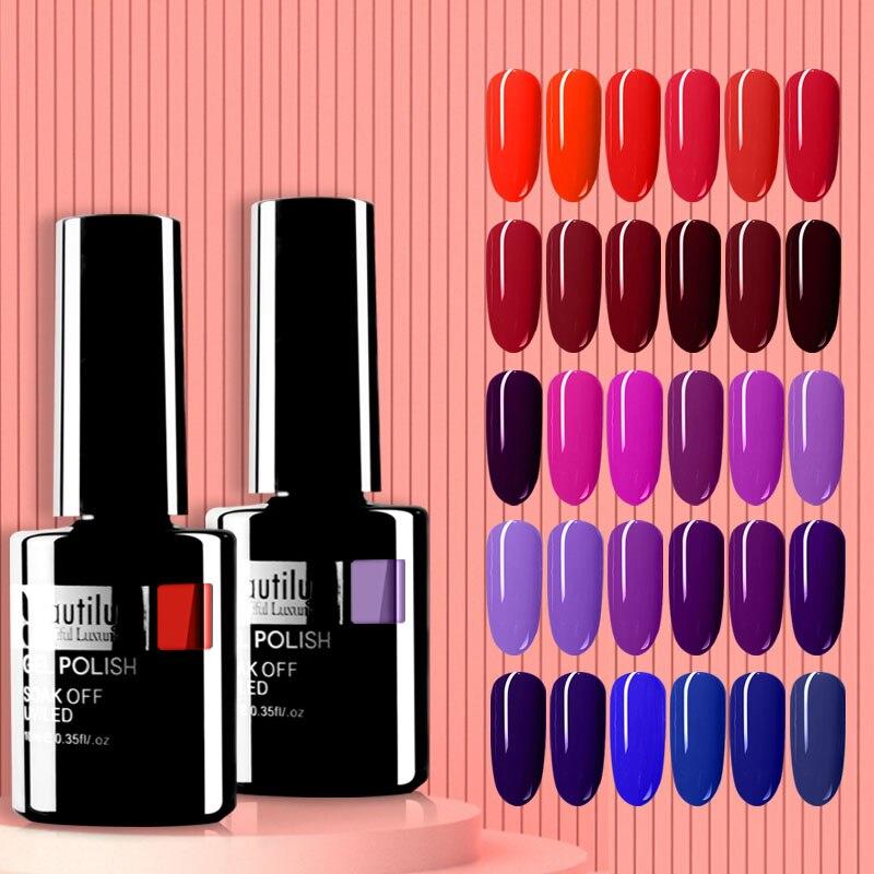 Beautilux Gel Nail Polish 120 Colors Professional Salon Nails Art Gels Varnish UV LED Semi Permanent Nail Lacquer Manicure 10ml