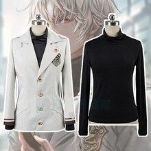 Hight Quality Anime Mystic Messenger Zen JK Uniform Man Woman Cosplay Costume Shirt + Coat