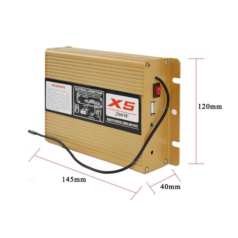 12V/24V 200W Amplifier Police Warning Siren Host 9 Sound Car Truck Alarm Fire Speaker Handheld Microphone Emergency PA System enlarge
