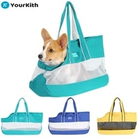 yourkith pet carrier dog bag portable go out cat dog fashion canvas travel bags breathable cat carrier bag