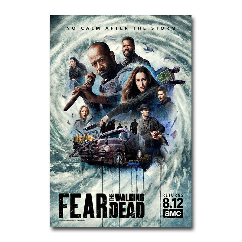 Fear The Walking Dead temporada 4 seda tela pared Poster arte decoración pegatina brillante
