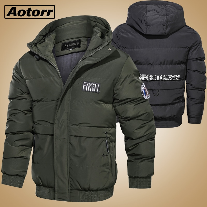 Parkas de invierno para hombre-20 grados gruesa chaqueta caliente Abrigo con capucha a prueba de viento chaquetas masculinas prendas de vestir chaqueta Masculina Parka regalo del Padre