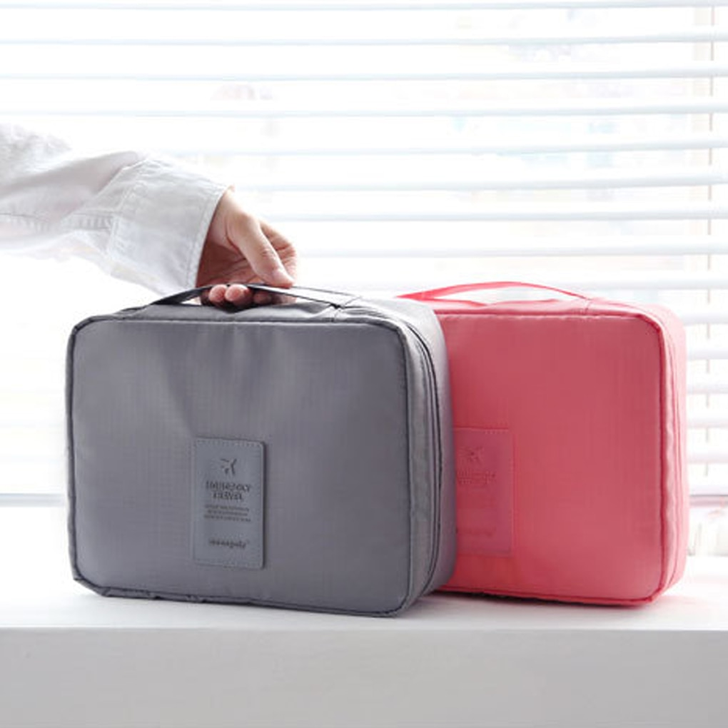 New outdoor Travel hand portable Cosmetic Makeup Toiletry Case Wash Organizer Storage Pouch Bag