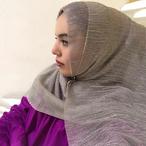 New Products Ladies Muslim Hijab Scarf purl Hijab Fashion Pure Color Headscarf Shawl Headscarf 70*180CM
