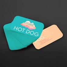 500 pces frete grátis design personalizado 300gms logotipo impressão de cartão de visita, dupla face e impressão a cores