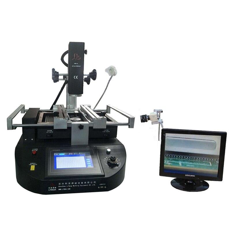 LY-R5830 R5830C écran tactile BGA Station de reprise air chaud 3 zones pour ordinateur portable carte mère puce réparation 4500W