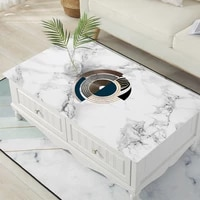 nordic marble rectangular coffee table mat waterproof oilproof heat resistant tablecloth custom party table deco protector cover