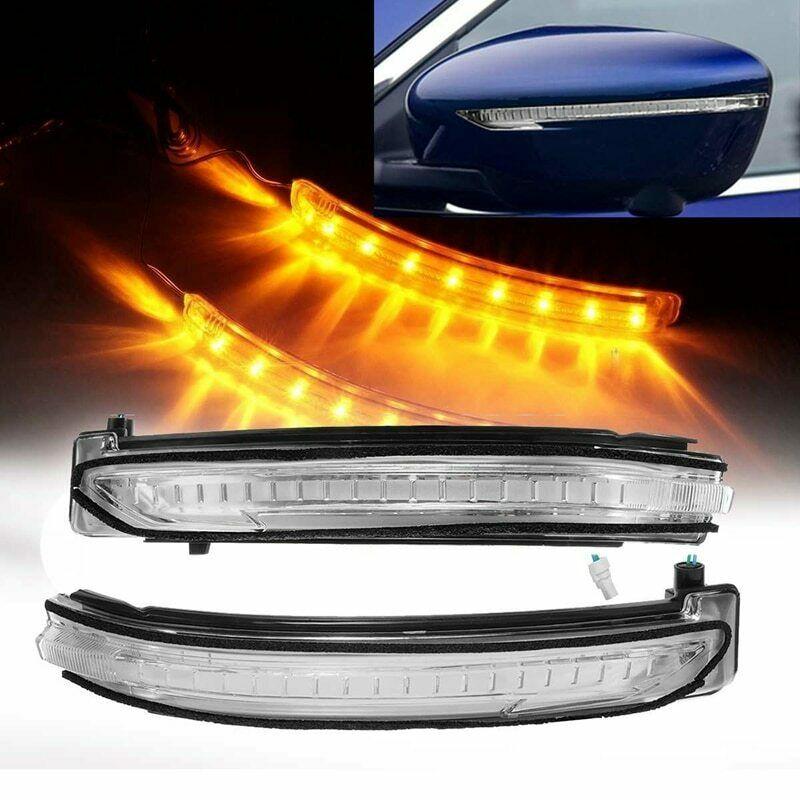 بدوره مصباح إشارة مرآة خلفية مؤشر مرآة مؤشر عدسة LED مصباح إشارة لنيسان X-Trail T32 Qashqai J11 مورانو