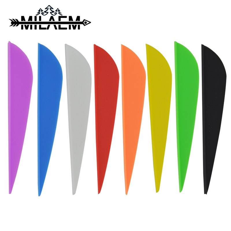 100 piezas Flecha de tiro con arco de 3 pulgadas, plumas de goma de alta calidad para fibra de vidrio, eje de flecha de carbono, accesorios de caza al aire libre