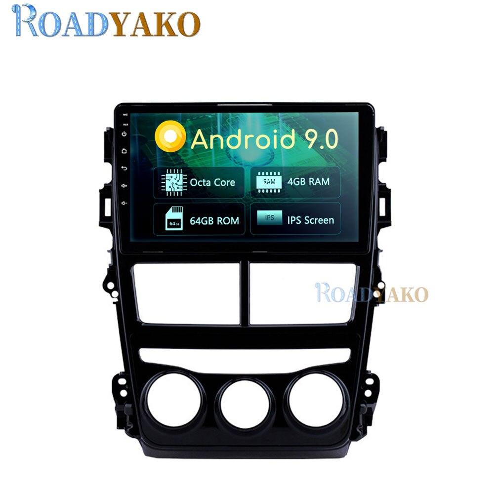 Autoradio pour Toyota VIOS YARIS   Autoradio, Android 9 , Navigation GPS, lecteur, manuel stéréo, système multimédia 2 Din
