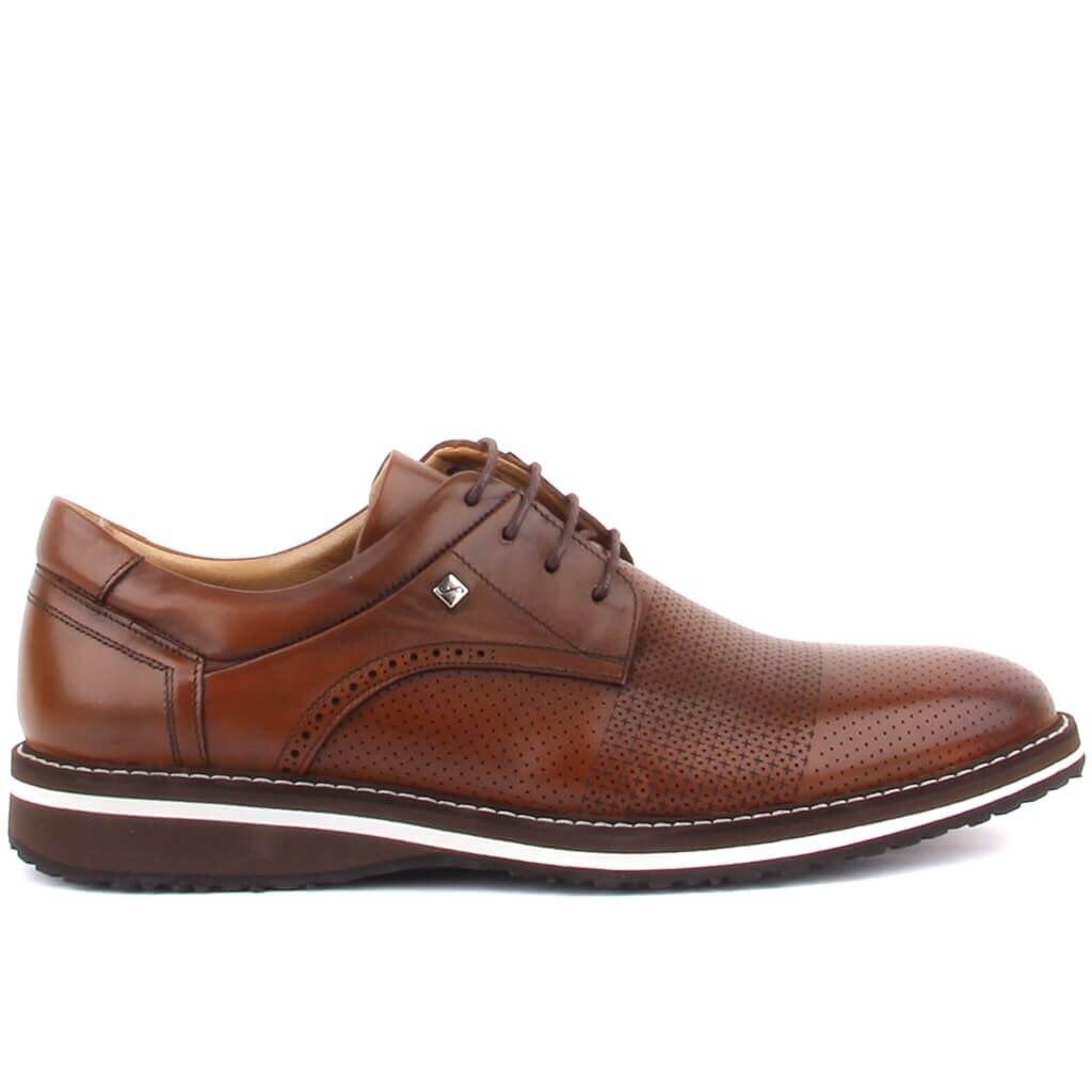 حذاء كاجوال للرجال من فوسكو تان برباط من الجلد