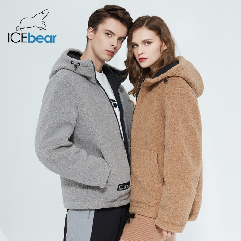 Icebear 2021 зима новая женская куртка с коротким хлопчатобумажным пальто флис куртка унисекс бренд одежды MWC20966D