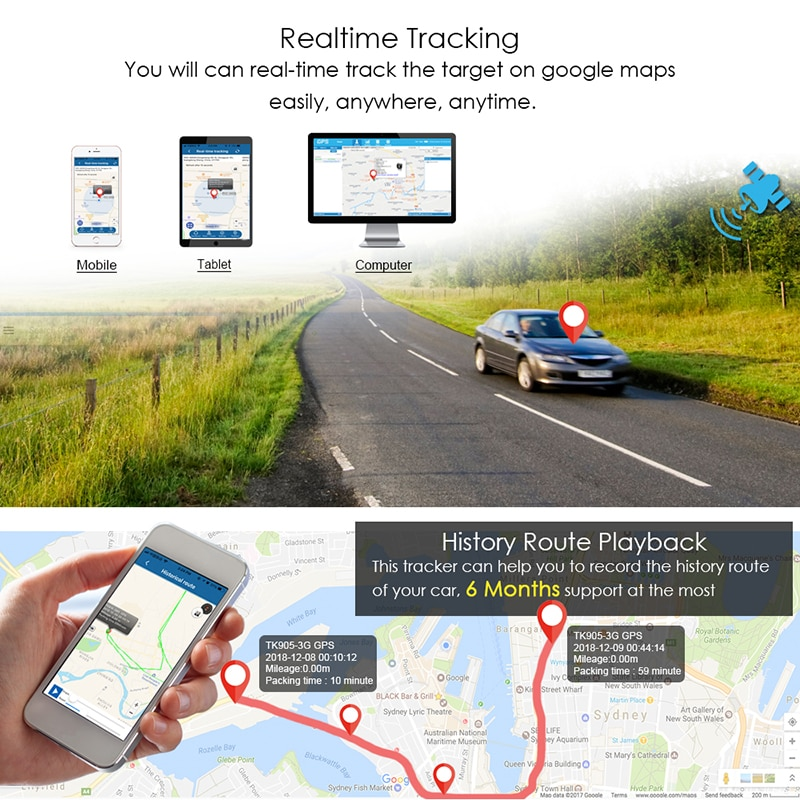 GPS Tracker Car Tracker 90 Day Standby Tkstar GPRS GPS Locator Waterproof Vehicle Tracker 2G Magnet Voice Monitor Free APP enlarge
