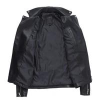 motorcycle new sheepskin genuine leather jacket mens turn down collar sequins biker jacket zipper black short real leather coat