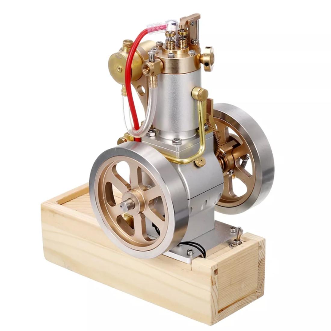 Metal Vertical Hit and Miss completo motor modelo Gas Stirling motor con dispositivo de arranque manual