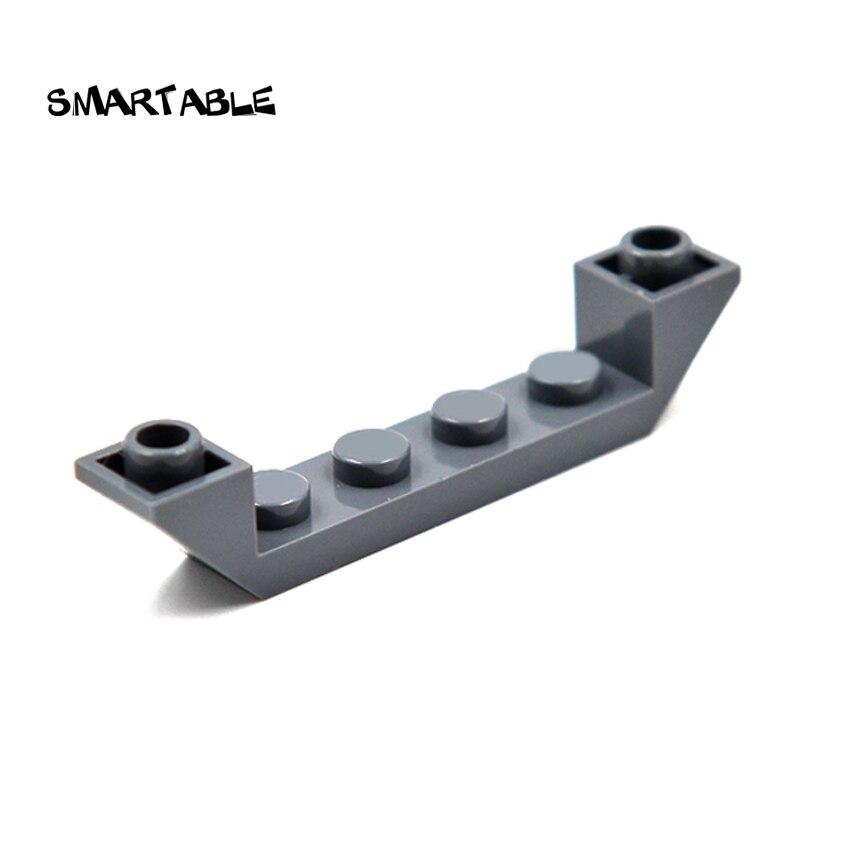 Smartable ladrillo pendiente hueco invertido 1x6 bloques de construcción piezas de MOC DIY juguetes para niños Compatible con gran marca 52501 40 unids/lote